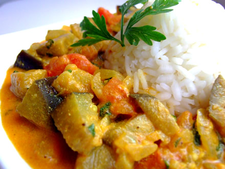 Curry de vinete